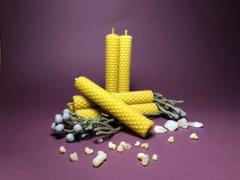 Свечи ручной работы из вощины (натуральный воск) с травами и эфирными маслами. - Изображение 1