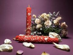 Свечи ручной работы из вощины (натуральный воск) с травами и эфирными маслами. - Изображение 5