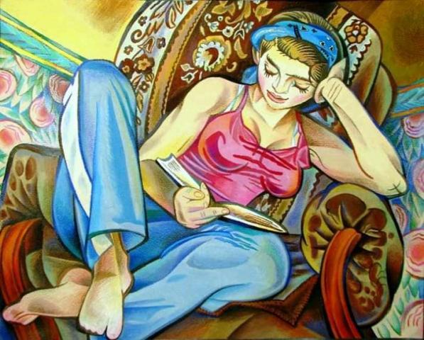 Картина Читающая(Ульяна) - 1