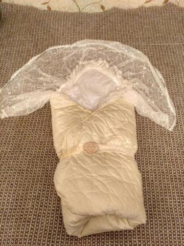 Продам зимний конверт-одеяло на выписку - 1